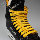 Elite Pro X7 Molded Tip Wide Hockey Laces - Yellow / Black