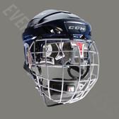 CCM FitLite FL60 Senior Ice Hockey Helmet Combo - Navy