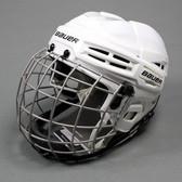 Bauer IMS 5.0 Ice Hockey Helmet Combo - White