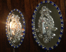 Pair of One-Light Mirror Chandelier or Sconces