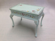 Green Table with floral decoration