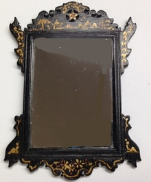 Black Chinoiserie Mirror