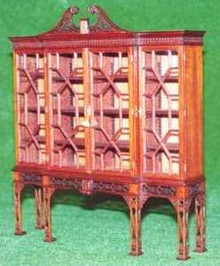 Breakfront Bookcase - Fretwork