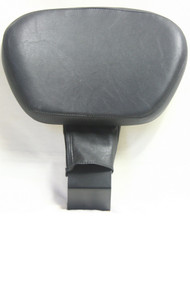 Black Driver (Rider) Backrest set: Backrest Bracket, Backrest pad