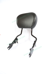 Detachable Sissy Bar Backrest with Backrest Pad Black