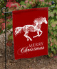 Merry Christmas Galloping Snowflake Horse Garden Flag