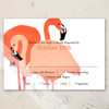 Flamingo Wedding Invitation RSVP card