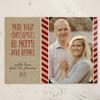 Festive Striped Christmas Photo Card