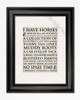 I have Horses Equestrian Typography Print