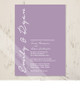 Simple and Elegant Lavender Wedding Invitation (10 pk)