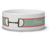 Ribbon Horse Bit Personalized Pet Bowl