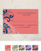 Coral and Navy Swirls Frame  RSVP card (10 pk)