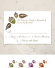 Fall Acorns and Leaves Wedding RSVP card (10 pk)