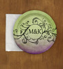 Purple and Green Bohemian Wedding Custom Paper Party Plates (8 pk)