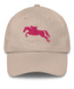 Jumping Horse Equestrian Emroidered Hat