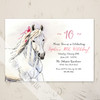 Whimsical White Pony Birthday Party Invitation (10 pk)