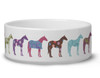 Fun Colorful Horse Pattern Pet Bowl