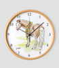 Whimsical Watercolor Pony Art Equestrian Wall Clock