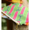 Pink and Green Bit Pattern Accessory Pouch