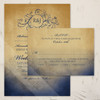 Navy and Gold Bohemian Wedding RSVP card (10 pk)