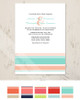 Modern Stripes Mint and Peach Wedding Invitation