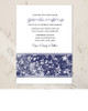 Blue Foral Bar Wedding Invitation (10 pk)