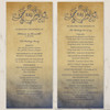 front and back view of wedding program