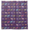 Purple Whimsical Horse Pattern Equestrian Shower Curtain