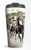 Polo Horse Equestrian themed travel tumbler