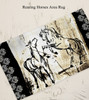 Rustic Rearing Horse Dobby Area Rug