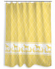 Yellow Horse pattern equestrian Shower Curtain for the horse lover's bathroom decor
