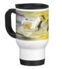 Abstract Equestrian Watercolor Travel Mug with Galloping Horses