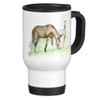 Best Mom Mother's Day Equestrian Travel Mug with Mare and Foal artwork,