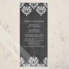 Elegant Chalkboard Damask Patterned Wedding Invitation