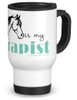My Horse is my Therapist Travel Mug