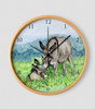 Donkeys Wall Clock