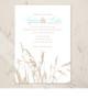 Sea Grass Beach Wedding Invitation (10 pk)