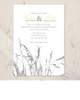 Sea Grass Yellow and Grey Beach Wedding Invitations