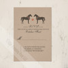 Whimsical Horses Rustic Wedding RSVP card