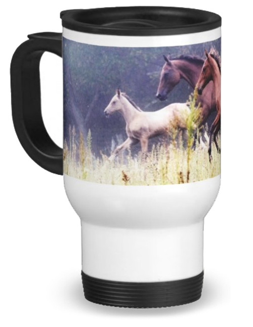 Morning Gallop Horse Travel Mug