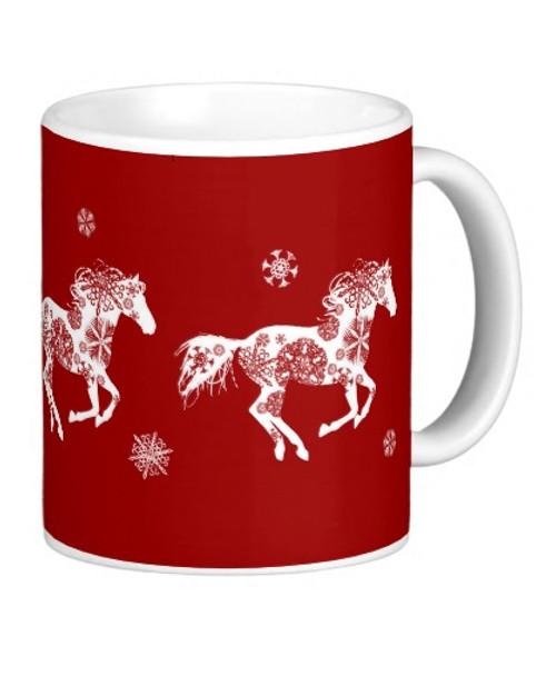 Christmas Equestrian Horse Mug