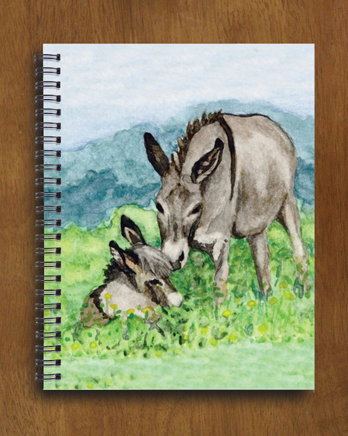 Donkey art spiral notebook
