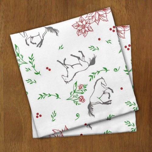 Christmas Horse Cloth Napkins