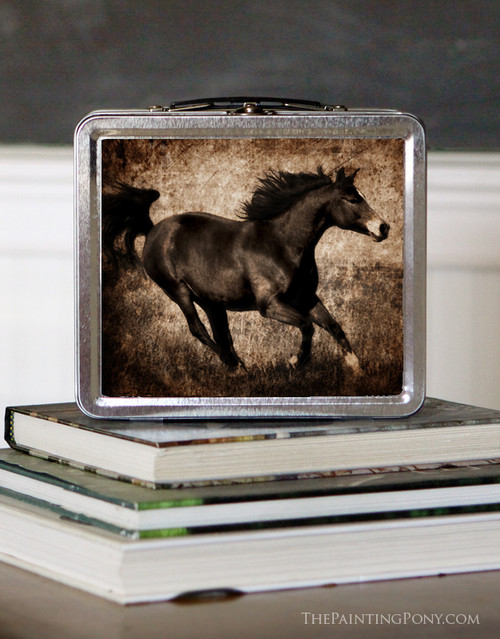 Galloping Rustic Brown Horse Lunch Box