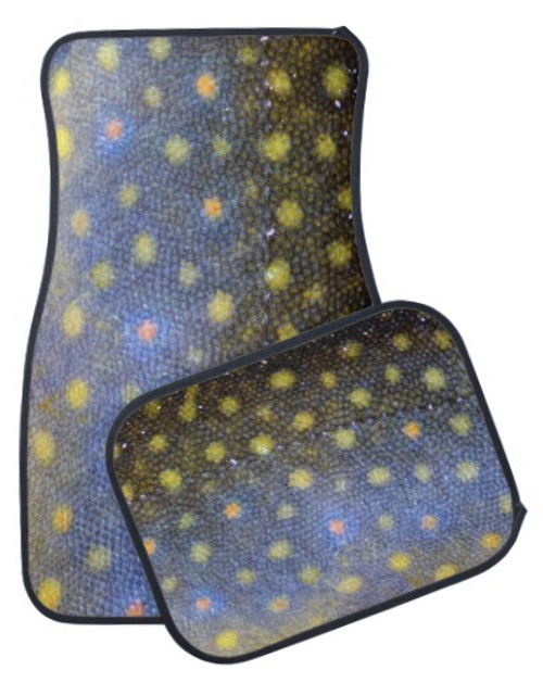 Brook Trout Fish Scales Skin Pattern Car Floor Mats