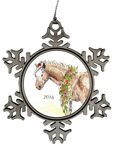 Whimsical Pony Christmas Ornament