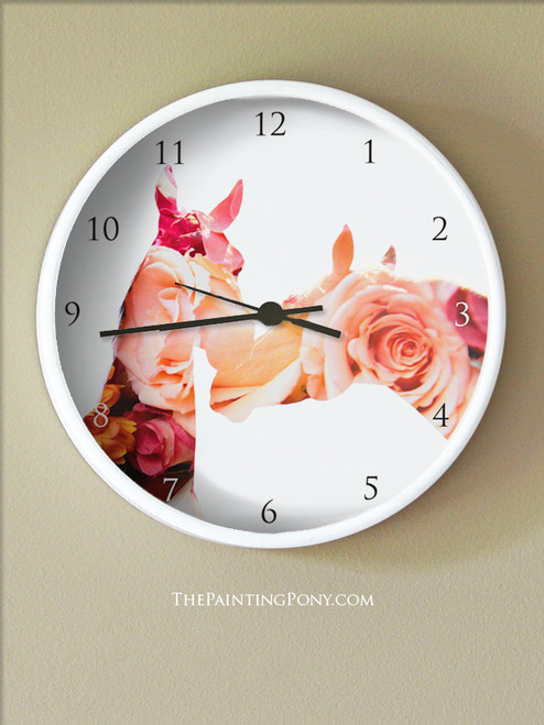 Equestrian Bloom Wall Clock