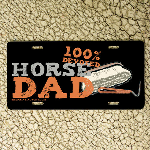 Horse Dad or Husband Equestrian Vanity License Plate