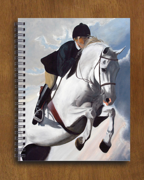 Hunter Jumper Horse Art Spiral Notebook