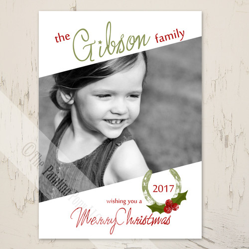 Equestrian themed photo christmas card